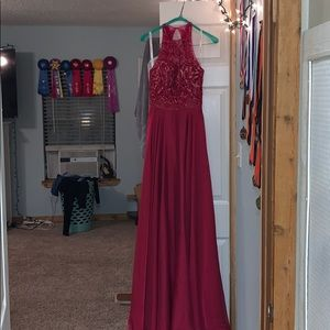 SHERRI HILL PROM DRESS used  (TINY STAIN ON FRONT)